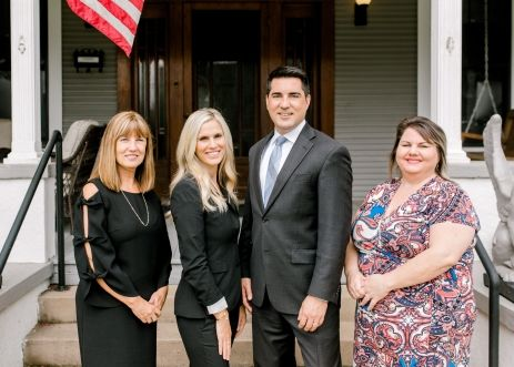 Donna Miller, Crysanthi Miller, Attorney Nathan Miller, and Rebecca Scott